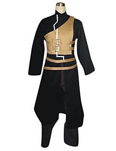 Inspirado por Naruto Gaara Anime Fantasias de Cosplay Ternos de Cosplay Patchwork Preto Manga Comprida Casaco / Colete / Calças / Cinto