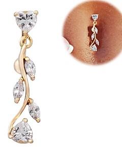 Γυναικεία Κοσμήματα Σώματος Navel & Bell Button Rings Ζιρκονίτης Cubic Zirconia Heart Shape Χρυσαφί ΚοσμήματαΚαθημερινά Causal