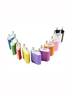eu plug usb hjemme vegglader adapter for iphone 5s / 5c / 5 / 4s / 4 / ipod