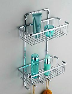 """Hylle til badeværelset Rustfritt stål Veggmontert 300 x 130 x 370mm (11.8 x 5.1 x 14.6"""") Rustfritt stål Moderne"""