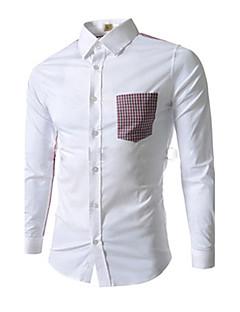 Ivan mænds koreanske mode vinter kausal slank skjorte