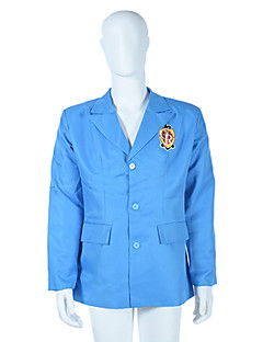 Inspired by Ouran High School Host Club Cosplay Anime Cosplay Costumes Cosplay Hoodies Print Blue Long Sleeve Coat