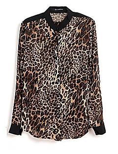 Блузка шифоновая с леопардовым принтом