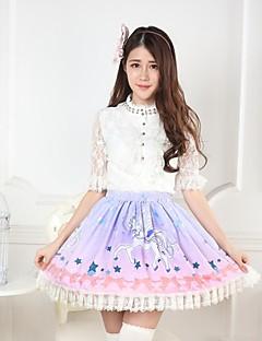 rosa sløyfe ganske lolita unicorn prinsesse kawaii skjørt nydelig cosplay