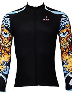 PALADIN® 싸이클 져지 남성의 긴 소매 자전거 통기성 / 빠른 드라이 / 자외선 방지 져지 / 탑스 100% 폴리에스터 패션 봄 / 여름 / 가을 레저 스포츠 / 사이클링/자전거