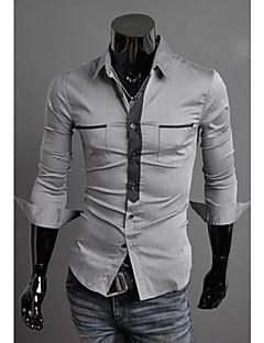Ležérní Košilový límec - Dlouhé rukávy - MEN - Casual Shirts ( Směs bavlny )