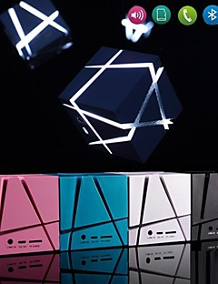 tianmian® ledet Rubiks kube mp3 funksjon mini bluetooth høyttaler med tf port for iphone 6 pluss / laptop / tablet pc