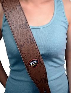 новый коричневый узор удав искусственная кожа 2,7-дюймовый регулируемый гитарный ремень с держателем медиатор
