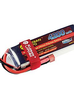 kudian rc batteri 45 ° C 4200mah t plug 4s