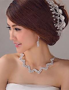 krystall bryllup manuelle tiaraer (flere farger)