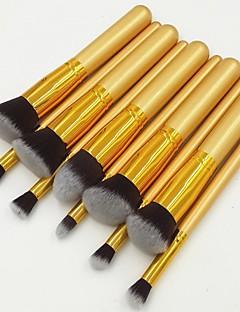 10 Set di pennelli Capelli sintetici Labbro / Occhi / Viso Altro