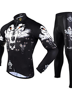 FJQXZ® Cycling Jersey with Tights Men's Long Sleeve Bike Breathable / Thermal / Warm / Quick Dry / Ultraviolet ResistantTights / Jersey /