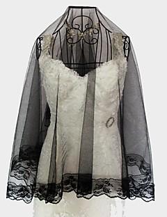 monistiska bröllop slöjor täckt ansikte svart vit spets fler färger