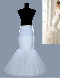 nye hvide 1 hoop fiskehale havfrue nederdel brudekjole krinoline Petticoat glider