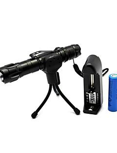 LT-YW502B2 Zoom Light Match Green Laser Pointer(5MW,532nm,1x18650,Black)