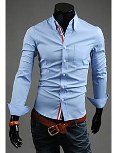 צווארון דוכן אופנת חולצות השרוול ארוך הדקים johnny של הגברים