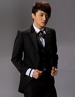 svart polyester slim fit todelte tuxedo