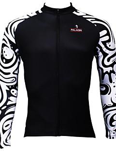 paladinsport mænds sommer og efterår stil 100% polyester sort bølge langærmet cykling trøje
