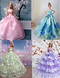 Prinzess-Linie Kleider Für Barbie-Puppe Lila / Blau Kleider Für Mädchen Puppe Spielzeug
