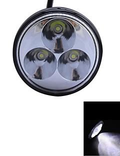 GLK-9W Type/S Spot 6000K 3-Epistar LED Round Working Light DIY Used to Car/Boat/Headlight