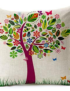 Teste padrão colorido da árvore de algodão / fronha decorativo linho