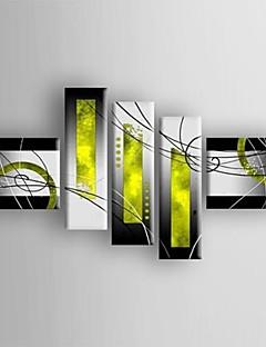olieverf moderne abstracte set van 5 de hand beschilderd doek met gestrekte frame