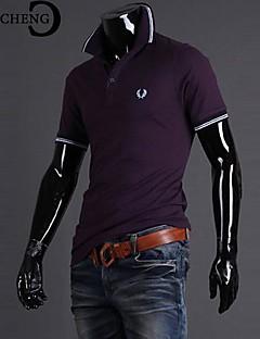 chicheng® férfi slim hímzett alkalmi divat állni galléros vékony póló molett XXXL