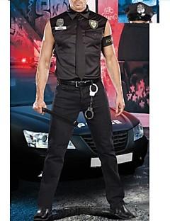 traje carreira dos homens adultos preto da polícia