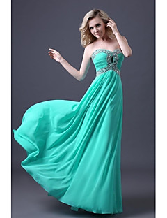 Dress - Pool A-line Sweetheart Floor-length Chiffon