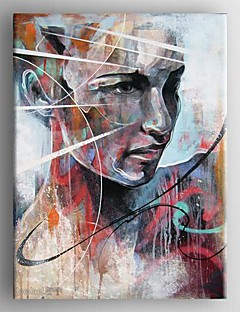 Oil Painting Abstract Woman  Painting Hand Painted Canvas with Stretched Framed