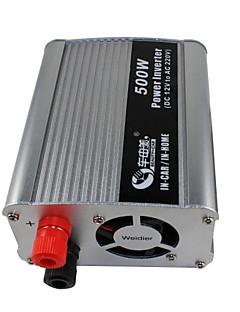 skønhed-bil 500W DC 12V til AC 220v bil power inverter (sølv)