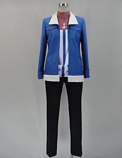 Inspirado por Akame Ga Kill! Cosplay animado Disfraces Cosplay Trajes Cosplay Retazos Azul Manga Larga Top / Camisas / Pantalones