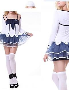 schattig anker wit en inkt blauw matroos meisje uniform
