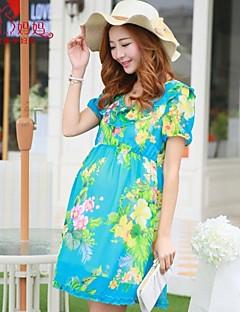mulheres grávidas maternidade moda coreano chiffon grávida vestido de maternidade saia Falbala vestir