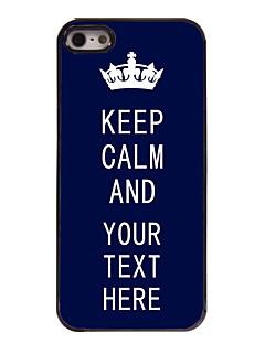 gepersonaliseerde geval blauw houd kalm ontwerp metalen behuizing voor de iPhone 5 / 5s