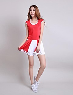 Cheerleader Costumes Women's Fashion Short Sleeve Dance Outfit Including Blouse&Skirt(More Colors)