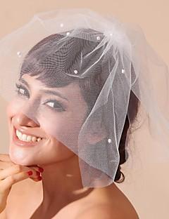 tulle et satin mariage / fête voiles de blush