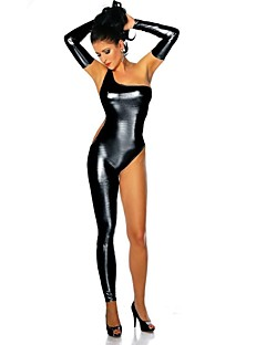 Hot Women Shiny Metallic Leotard Sexy Uniform