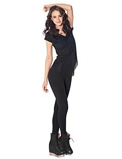 Для женщин Один цвет Legging,Ice Silk (искусственное волокно) Ткань средней плотности