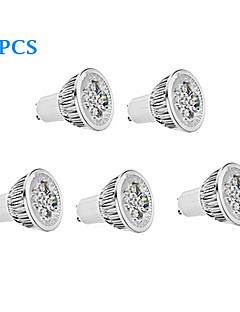 Spot Blanc Chaud/Blanc Froid 5 pièces GU10 5.5 W 4 LED Haute Puissance 330 LM K AC 85-265 V