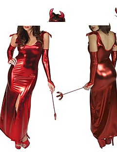 easter dia vermelho pu mulheres diabo cosplay halloween trajes m.xl