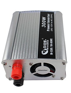 beauty-auto 300w dc 12v aan ac 220v auto power inverter (zilver)