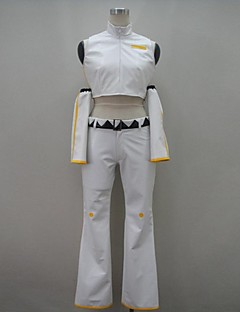 Inspired by Vocaloid Kagamine Len Video Game Cosplay Costumes Cosplay Suits Solid White SleevelessTop / Pants / Headpiece / Sleeves /