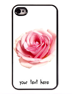 personalisierte Fall Rosenentwurf Metallkasten für iphone 4 / 4s