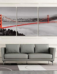 E-HOME® Stretched Canvas Art Bridge Decoration Painting Set of 3