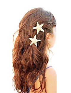 Shixin® European Starfish Shape White Cowry Barrettes For Women(Ramdon Size)(1 Pc)