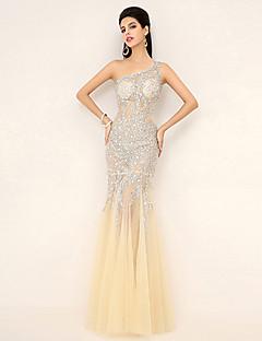 Trumpet/Mermaid One Shoulder Floor-length Evening Dress