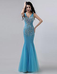 Trumpet/Mermaid V-neck Floor-length Evening Dress