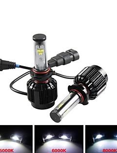 CONQUER® 2PCS  30W 3000Lumens  9006 High Power High Brightness Cree LED Headlight for Car