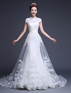 Ball Gown Wedding Dress Court Train Jewel Tulle
